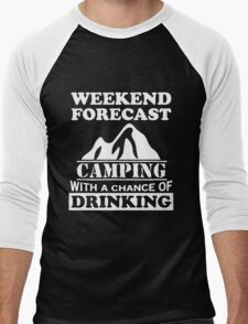 Camping with a chance of drinking Men's Baseball ¾ T-Shirt