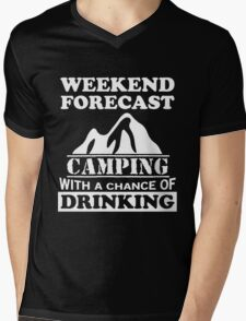 Camping with a chance of drinking Mens V-Neck T-Shirt