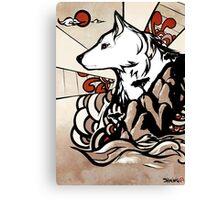 Wolf Ukiyo-e Canvas Print
