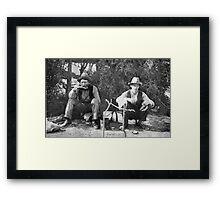 Swaggies, Aternoon Tea Framed Print