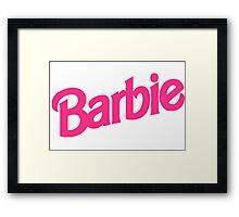 Barbie Girl Framed Print