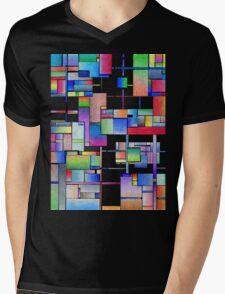 Interconnected Mens V-Neck T-Shirt