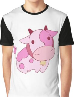 Strawberry Milk Cow Graphic T-Shirt