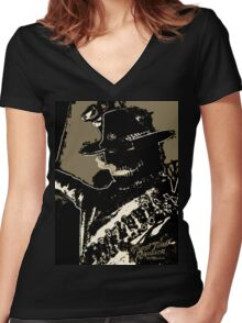 Rambler Tequila Bandit - Black Women's Fitted V-Neck T-Shirt