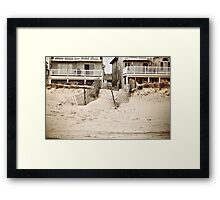Down to the Beach Framed Print
