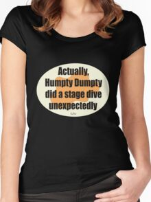 Humpty Dumpty Fail - graphic version Women's Fitted Scoop T-Shirt