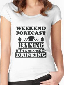 Weather Forecast: Baking Women's Fitted Scoop T-Shirt