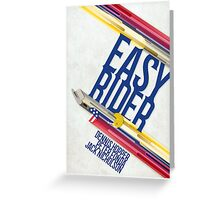 Easy Rider Movie Poster Greeting Card
