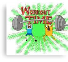 Workout Time! Pimp those Biceps! Canvas Print