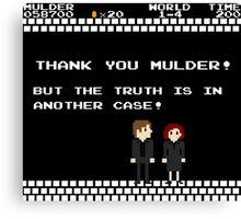 Thank You Mulder ! Canvas Print