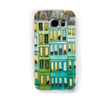 Cats in Green Townhouses Samsung Galaxy Case/Skin