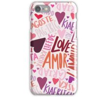Love Languages iPhone Case/Skin