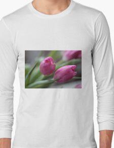Pink tulips Long Sleeve T-Shirt