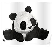 Lace Agate Panda Poster