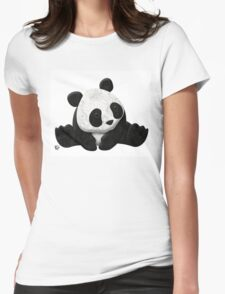 Lace Agate Panda Womens Fitted T-Shirt