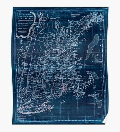 American Revolutionary War Era Maps 1750-1786 345 Bowles's map of the seat of war in New England Comprehending the provinces of Massachusets Bay and New Inverted Poster