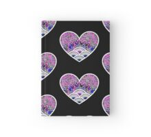 Heart illustration white Hardcover Journal