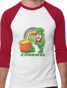St Patricks Day White Men's Baseball ¾ T-Shirt