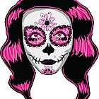 Pink Sugar Skull Girl by missmann