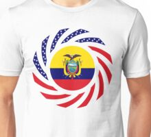 Ecuadorian American Multinational Patriot Flag Series Unisex T-Shirt