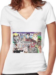 Silver Bullet Women's Fitted V-Neck T-Shirt