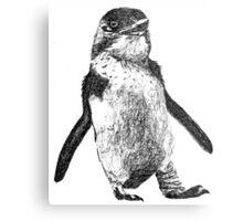 Ink Penguin Metal Print