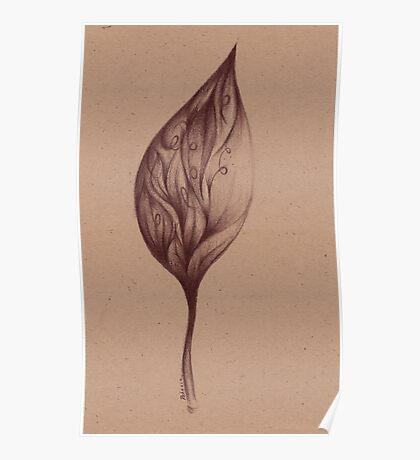 Cinnamon Leaves - Prisma Pencil Drawing Poster