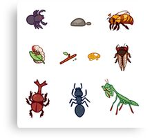 Bug stickers Canvas Print