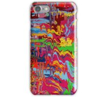 colorful paint drip abstract iPhone Case/Skin