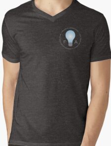 Franklin Advertising Logo (On Grey) Mens V-Neck T-Shirt