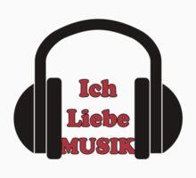 Ich Liebe Musik - Schlager T-Shirt Bettdecke Kleber German Music Kids Tee