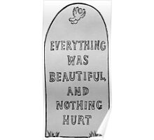 Everything Was Beautiful And Nothing Hurt Poster