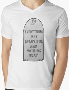 Everything Was Beautiful And Nothing Hurt Mens V-Neck T-Shirt