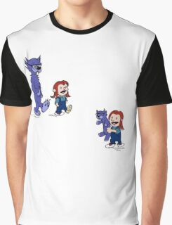calvin and hobbes meets hanks and raven Graphic T-Shirt