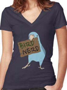 Bird Nerd Women's Fitted V-Neck T-Shirt