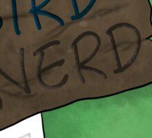 Bird Nerd (Green) Sticker
