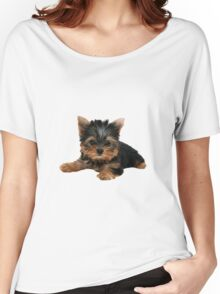 Yorkie Pup Women's Relaxed Fit T-Shirt