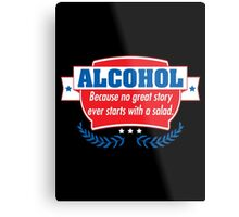 alcohol salad Metal Print
