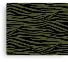 0018 Army Green Tiger Canvas Print