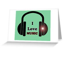I Love Music T-Shirt - Dance Party Sticker - Rave Sticker Greeting Card