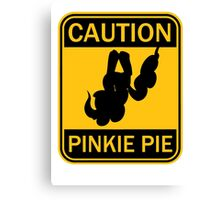 Caution Pinkie Pie (MLP:FiM) Canvas Print