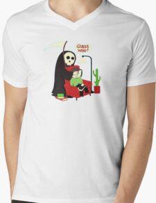 guess who ? Mens V-Neck T-Shirt