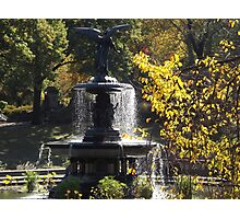Bethesda Fountain, Central Park,  Autumn Colors, New York City  Photographic Print