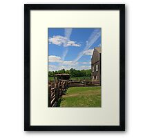 Jet Trails In The Sky Framed Print