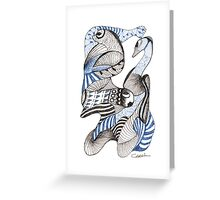 Blues and Browns Greeting Card