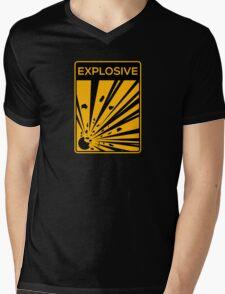 Explosive Warning Sign Mens V-Neck T-Shirt