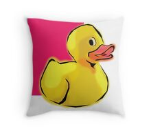 Cute Duck Throw Pillow