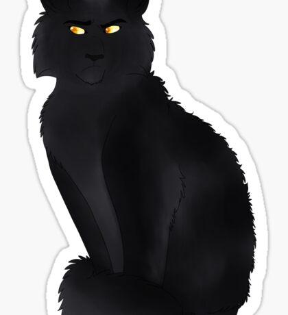 Black Smoke Cat Sticker