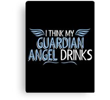 angel drinks Canvas Print