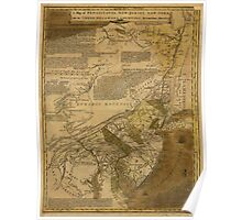 American Revolutionary War Era Maps 1750-1786 068 A map of Pensilvania New Jersey New York and the three Delaware counties 1 Poster